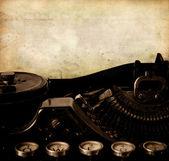 Message type on old typewriter — Stock Photo