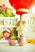 Ciepłe zdjęcie różnych obiektów związanych z domu — Zdjęcie stockowe