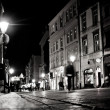 Stylized photo of the city's old street in the night — Stock Photo #38961749