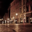 Stylized photo of the city's old street in the night — Stock Photo #38961803