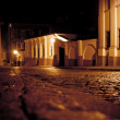 Stylized photo of the city's old street in the night — Stock Photo #38961879