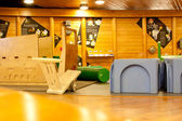 WIELICZKA, POLAND - OCTOBER 21, 2013: Playground in the salty mi — Stock Photo
