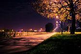 Historic city centre of Krakow by night — Stock Photo