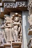 Carvings on Temple walls at Khajuraho,. AD 930-950 — Stock Photo