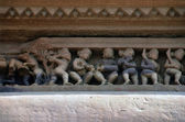 Carvings on Temple walls at Khajuraho AD 930-950 — 图库照片