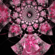 Abstract floral fractal background  for art projects — Stock Photo