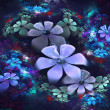 Abstract flowers fractal — Stock Photo