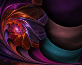 Abstract fractal background for art projects — Stock Photo
