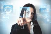Futuristic virtual screen — Stock Photo