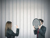 Hit the target — Stock Photo