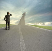 The road to success — Stockfoto