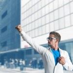 Businessman super hero — Stock Photo