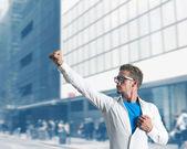 Affärsman super hjälte — Stockfoto