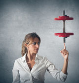 Determinated businesswoman — Stock Photo