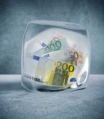 Price and money freeze — Stock Photo
