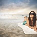 Beach relax — Stock Photo