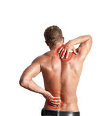 Dores nas costas — Foto Stock
