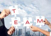 Concetto di lavoro di squadra — Foto Stock