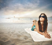Beach relax — Stock Photo