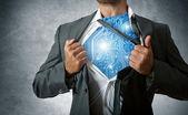 Super héroe de tecnología — Foto de Stock