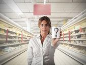 Supermarket question — Stock Photo