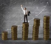 Dinheiro e sucesso — Foto Stock