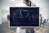 Heart graph — Stock Photo