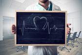 Heart graph — Stock Photo
