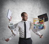 Calculations and crisis — Stock Photo