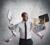 Cálculos y crisis — Foto de Stock
