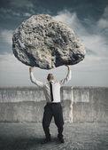 бизнесмен и стресс — Стоковое фото
