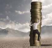 Carrera y ambición en el trabajo — Foto de Stock