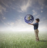 Save the world concept — Stock Photo