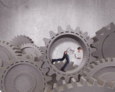 Mekanism affärssystem — Stockfoto