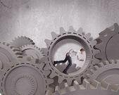 Sistema de mecanismo de negocios — Foto de Stock