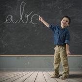 Abc на доске — Стоковое фото