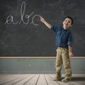 Abc in blackboard — Stock Photo
