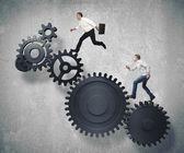 бизнес-механизм системы — Стоковое фото
