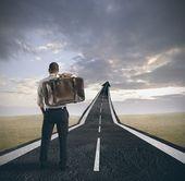Succès et la carrière d'un homme d'affaires — Photo