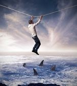 Begriff des risikos im geschäft — Stockfoto