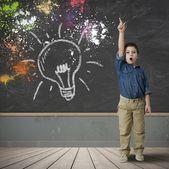 Pomysł szczęśliwe dziecko — Zdjęcie stockowe