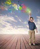 идея счастливый ребенок — Стоковое фото