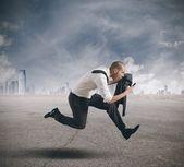 Business in actie — Stockfoto