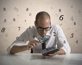 Analyze the numbers — Stock Photo