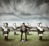 Ataque del equipo de negocio — Foto de Stock