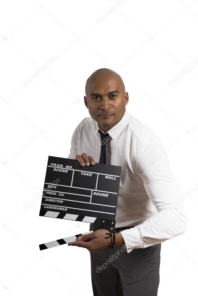 Concept of business in action with cinema ciack — Stock Photo #20000417