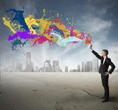 Creativity in business — Stock Photo