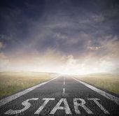 начало прямо для бизнеса — Стоковое фото