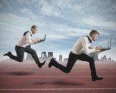 Concurrentie in het bedrijfsleven — Stockfoto