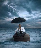 Tempesta di affari — Foto Stock